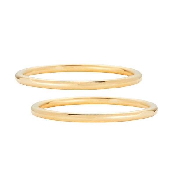 Core Bangle Set in Gold