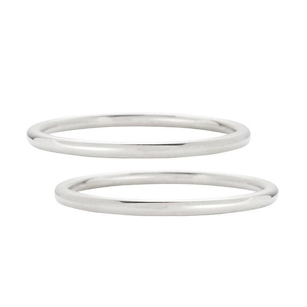 Core Bangle Set in Silver