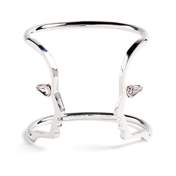 Crystal Silhouette Cuff in Silver