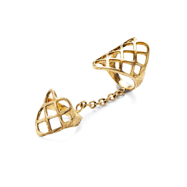 Double Lattice Ring in Gold