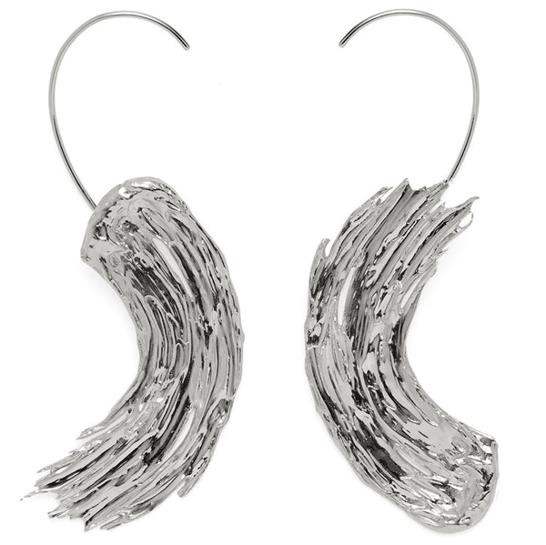 Eva Earrings in Rhodium