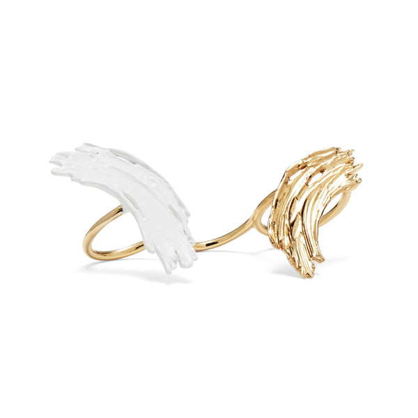 Eva Ring in Gold and White