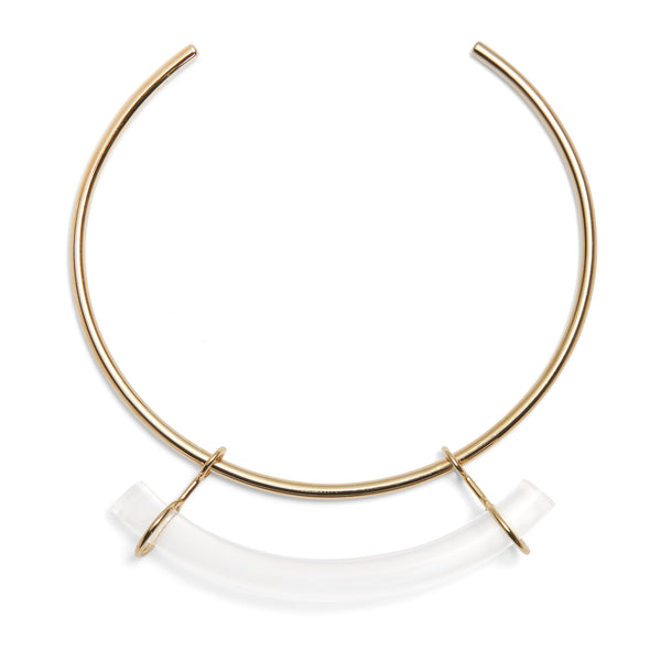 Fraction Collar in Gold and Clear