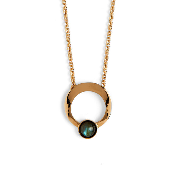 Halo Necklace in Gold