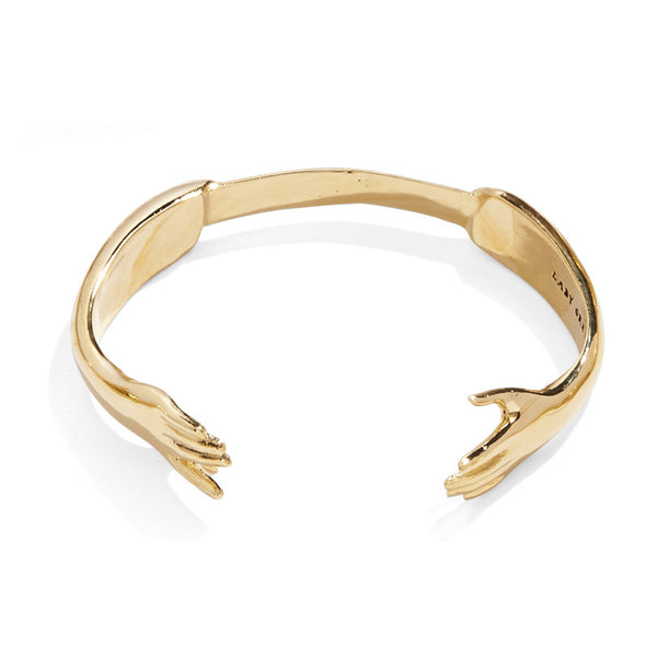 Reflected Hand Bangle in Gold