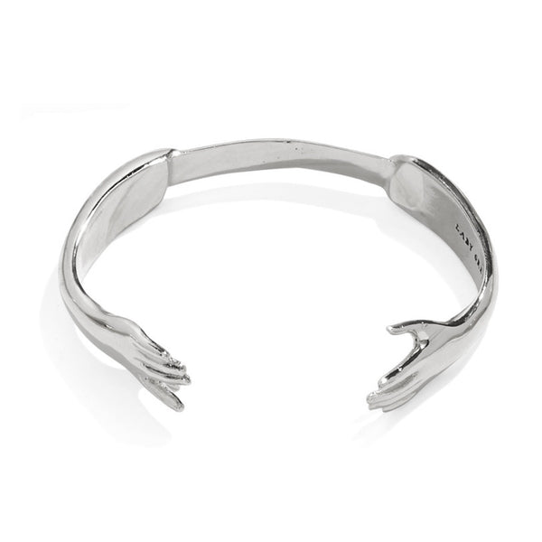 Reflected Hand Bangle in Silver