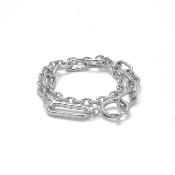 Varie Wrap Chain in Rhodium