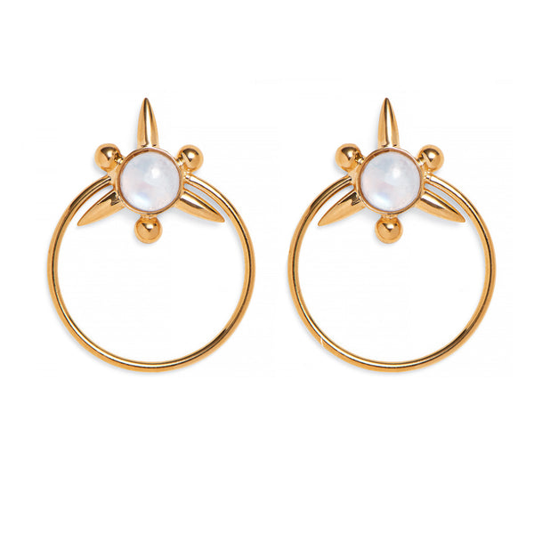Astraea Hoops in Gold