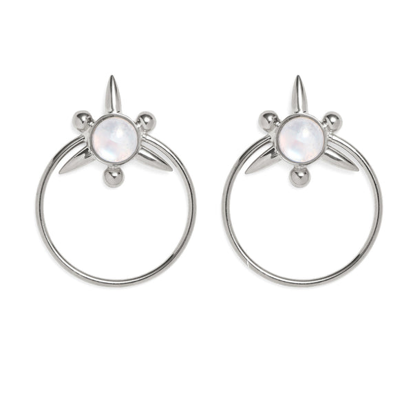 Astraea Hoops in Silver