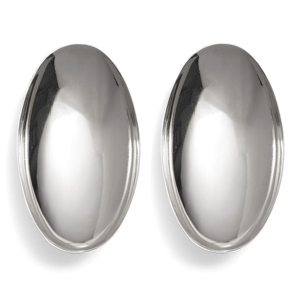 Basin Earrings in Rhodium