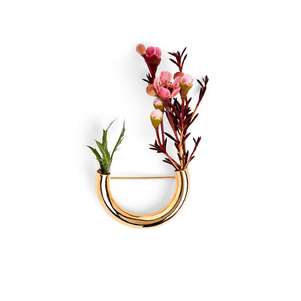 Botanical Brooch- Gold Composition 2