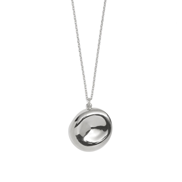 Cleft Necklace in Rhodium