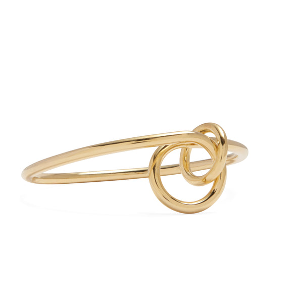 Coil Link Bangle in Gold