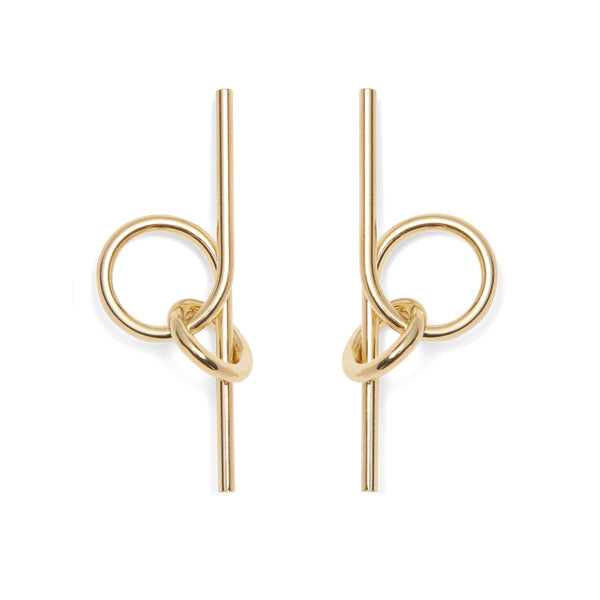 Coil Link Earrings in Gold