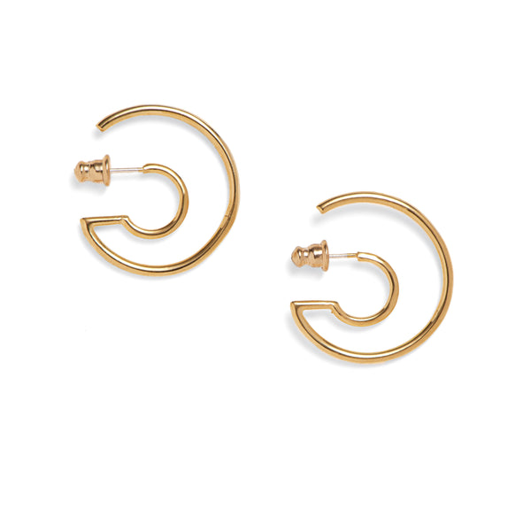 Concentric Earrings in Gold