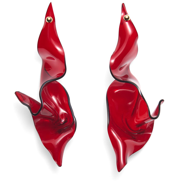 Contortion Earring in Red