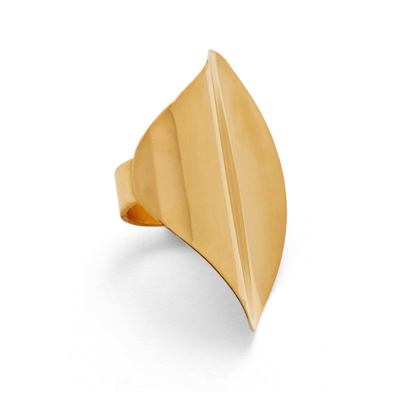Contour Ring in Gold