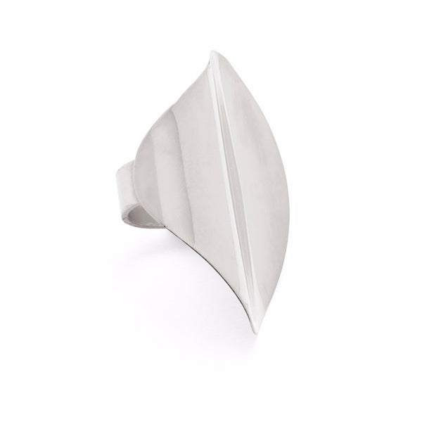 Contour Ring in Silver