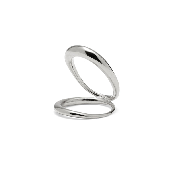 Echo Ring in Rhodium