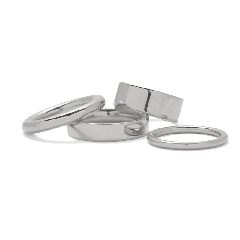 Lady Grey Jewelry Essential Ring Set in Rhodium