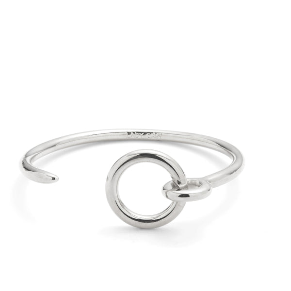 Eyelet Bracelet in Rhodium