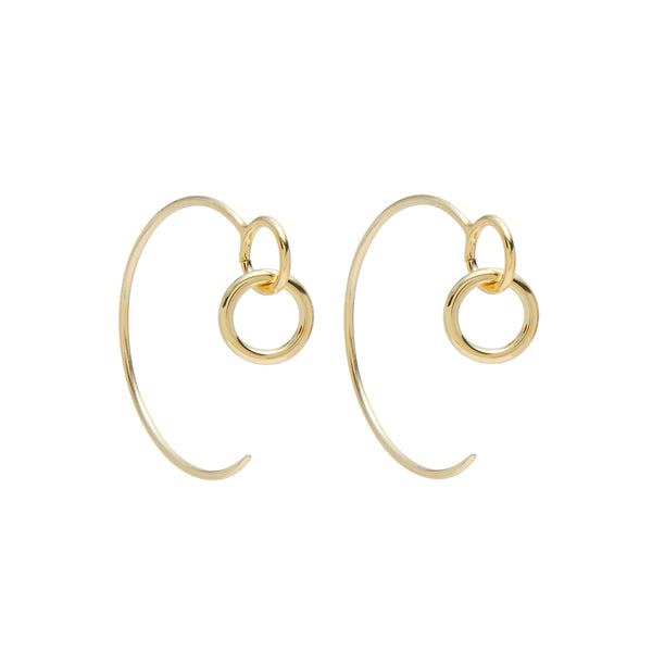 Eyelet Hoops in Gold