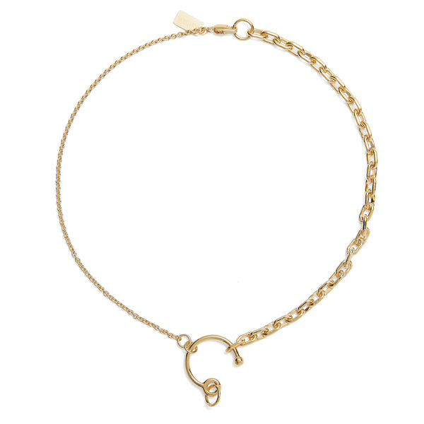 Eyelet Necklace in Gold