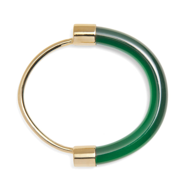 Fraction Bracelet in Gold and Emerald