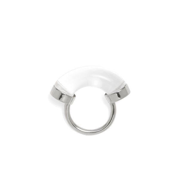 Fraction Ring in Rhodium and Clear