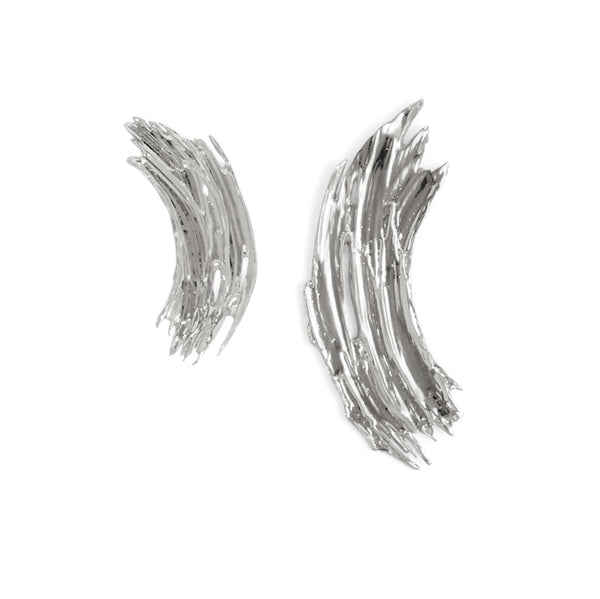 Gwendolyn Earrings in Rhodium