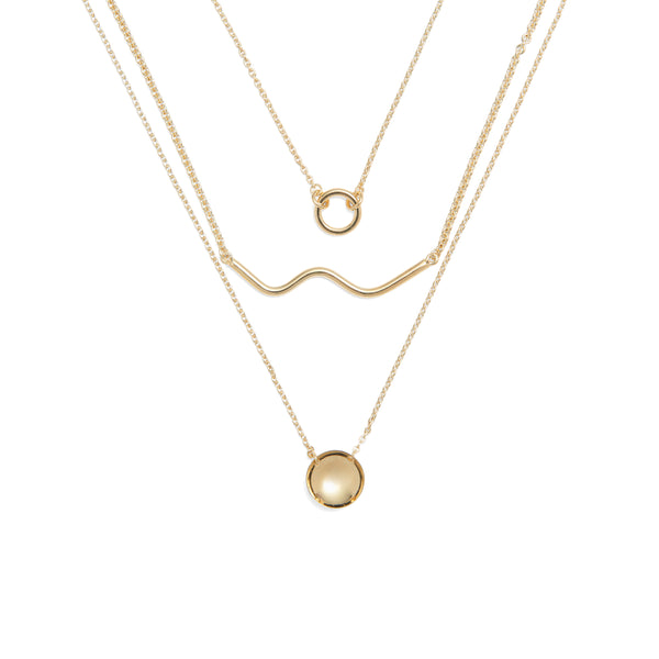 Horizon Necklace in Gold
