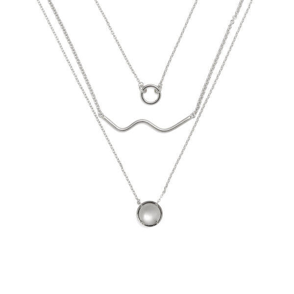 Horizon Necklace in Rhodium