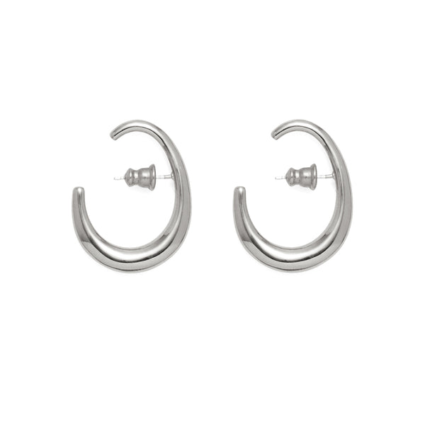 Lair Earrings in Rhodium