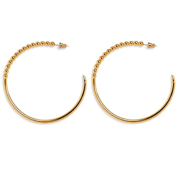 Large Ophidia Hoops in Gold