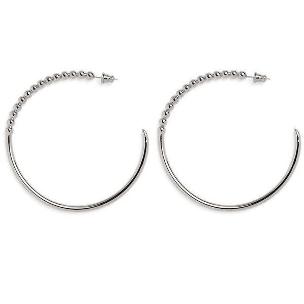 Large Ophidia Hoops in Silver