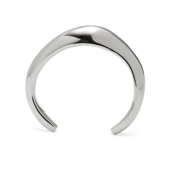 Organic Cuff in Rhodium
