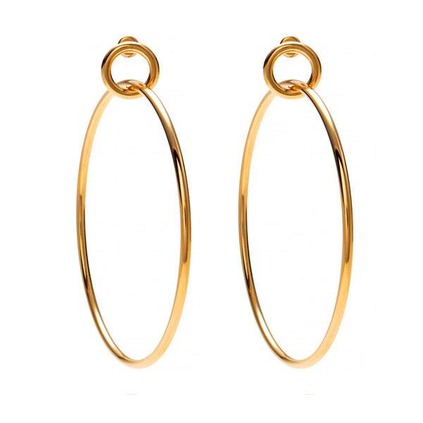 Link Hoops in Gold