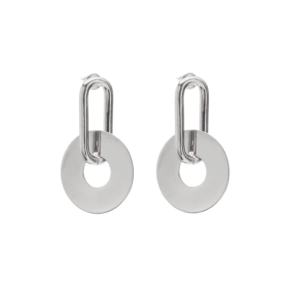 Loup Earring in Rhodium