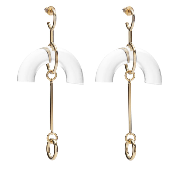 Lucent Earring in Gold and Clear