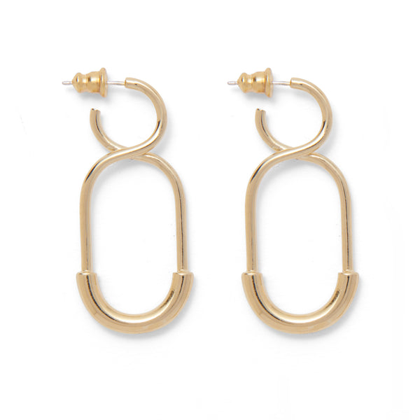Mini 88 Earring in Gold