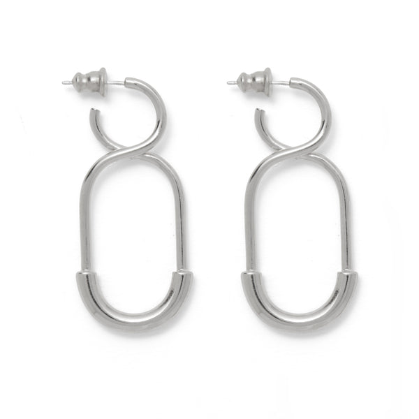 Mini 88 Earring in Rhodium
