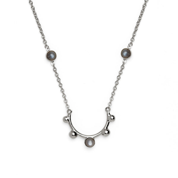 Moonrise Necklace in Silver
