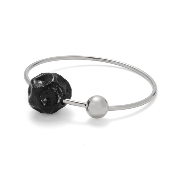 Ohr Bangle in Rhodium