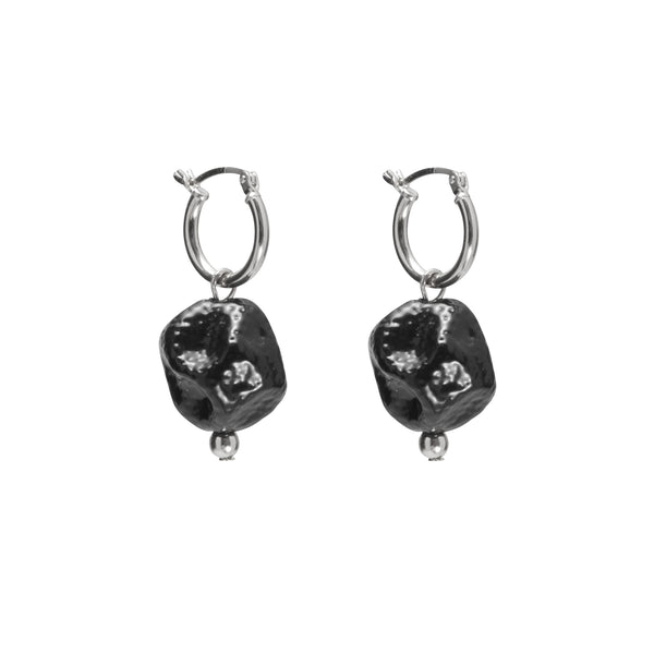 Ohr Earring in Rhodium