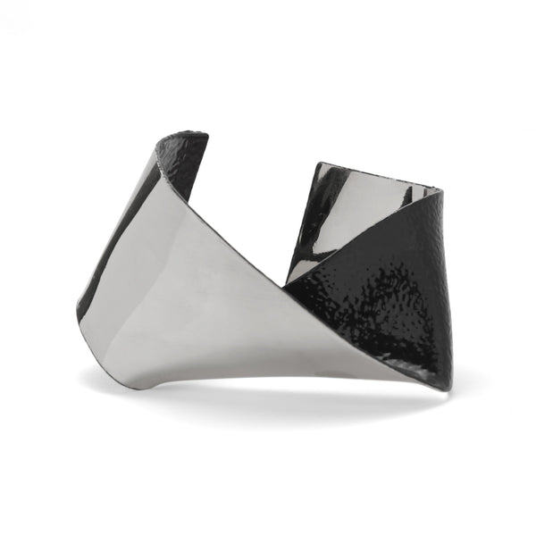 Ori Cuff in Rhodium
