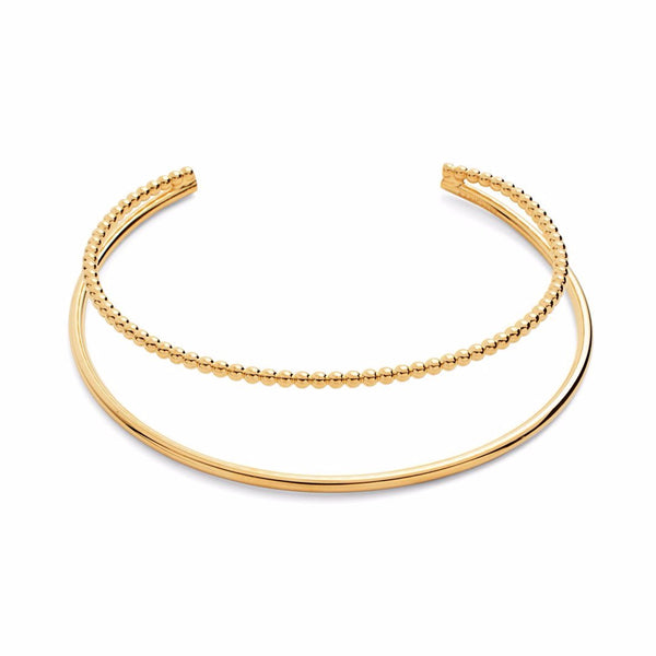 Pearled Contour Collar in Gold