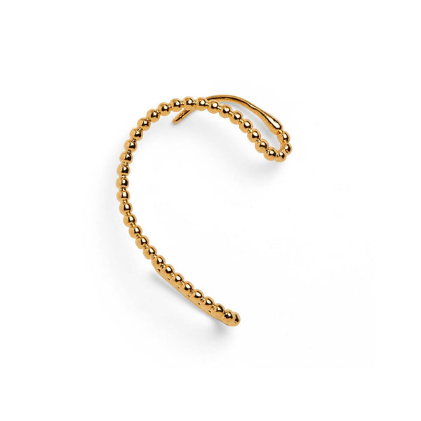 Pearled Trace Ear Cuff in Gold- Right Ear