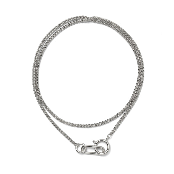Plait Necklace in Rhodium