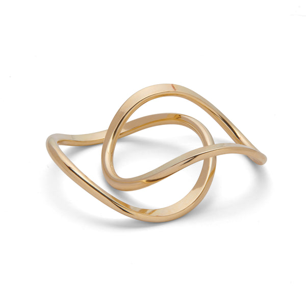 Raia Bangle Set  in Gold