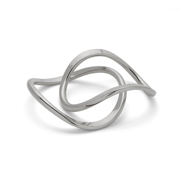 Raia Bangle Set in Rhodium